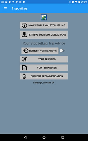 How to use StopJetLag on Android