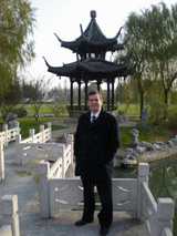 Photo of Bill Shelley in Yangzhou, China