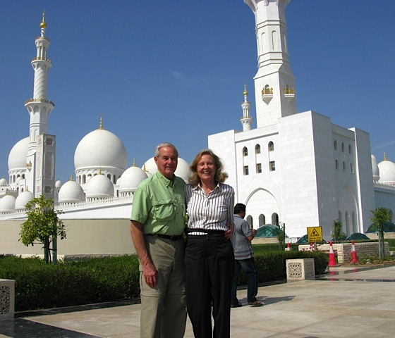Rosie and Ladd Jones in Abu Dhabi