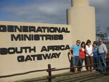 Photo of Dr. Ron Wohrle and family in South Africa
