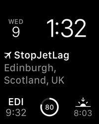 StopJetLag for Apple Watch - Complication